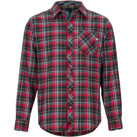 Marmot Anderson Lightweight Flannel Langarm Shirt Herren team red